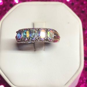 Mystic Mercury Topaz Sterling Silver Ring